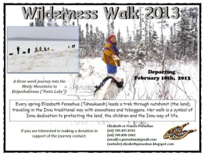 Elizabeth Penashue 2013 Wilderness Walk