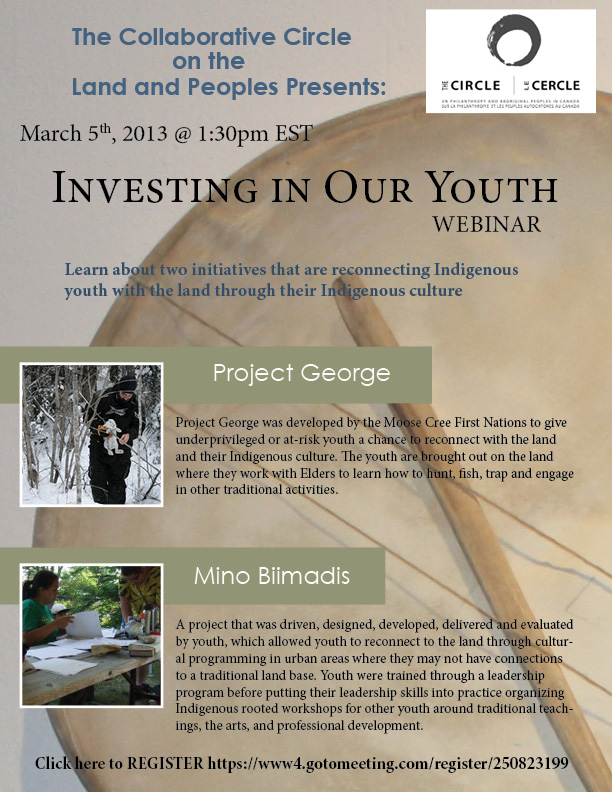 Upcoming Event - Investing in Our Youth Webinar - March 5th, 2013 @ 1:30 p.m. EST